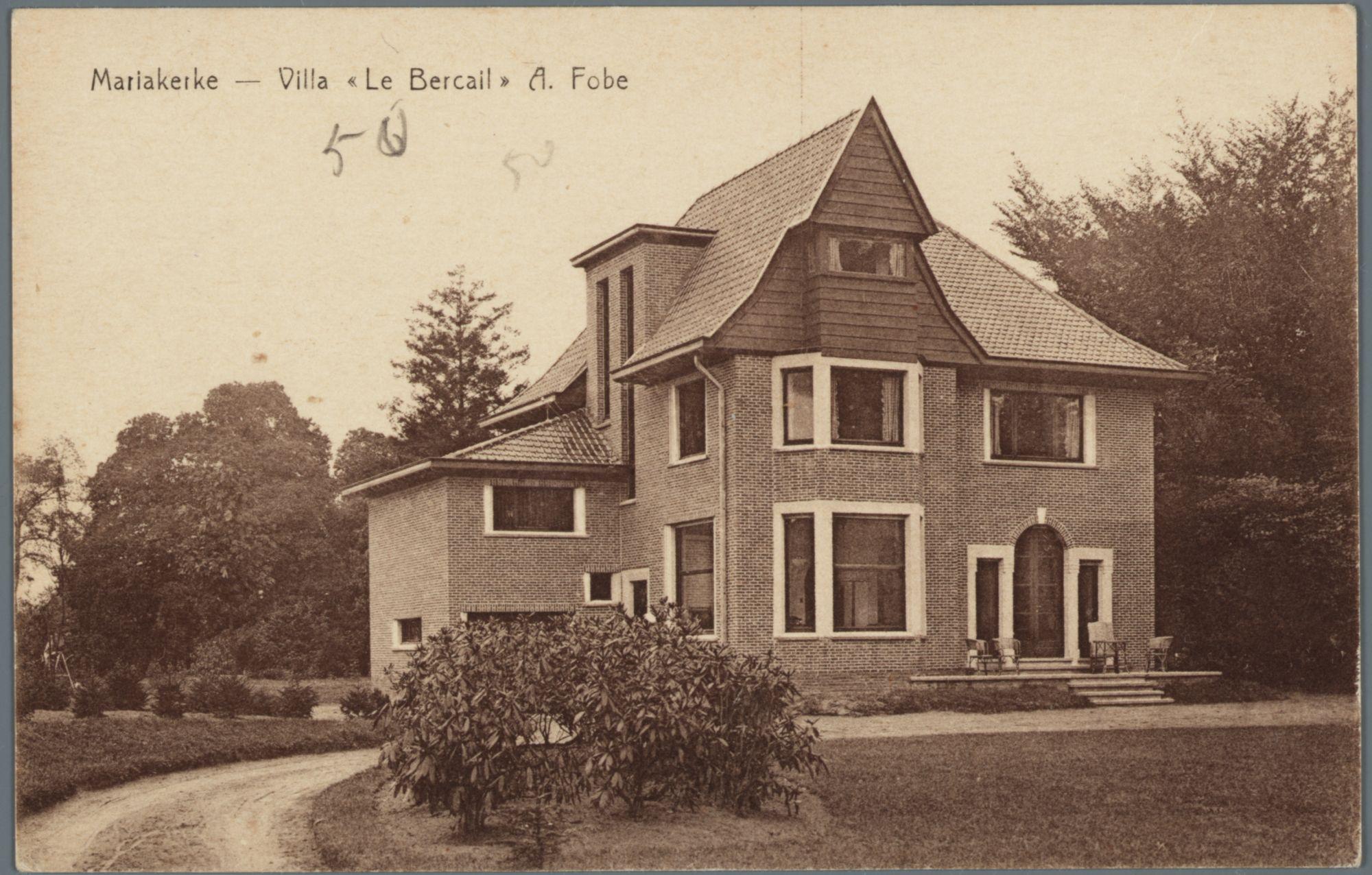 Mariakerke (bij Gent): villa Le Bercail