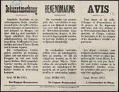 Bekanntmachung   Bekendmaking   Avis.