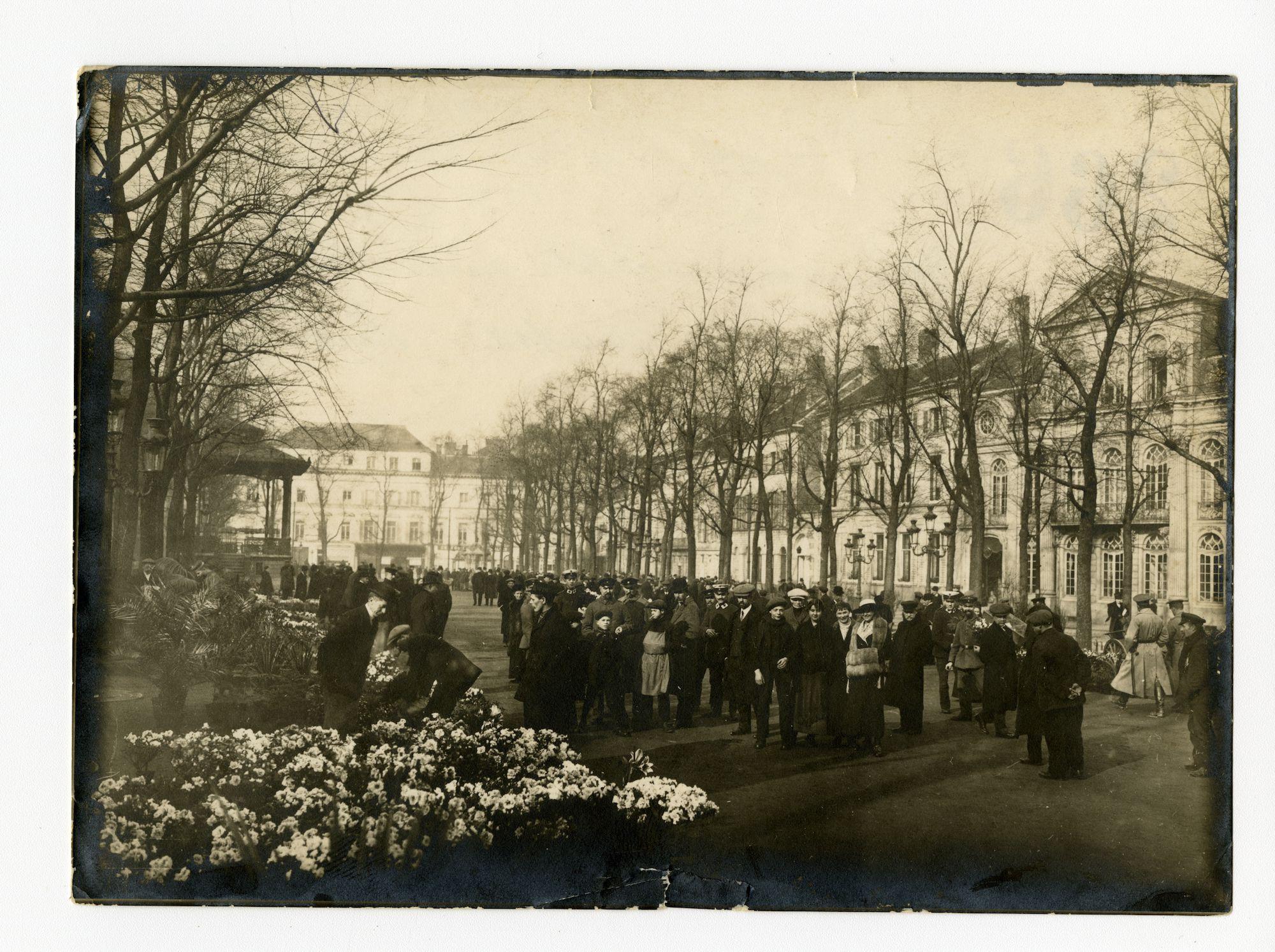 Gent: Kouter: bloemenmarkt, 1915-1916