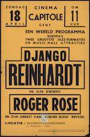 Django Reinhardt en zijn kwintet Roger Rose, Gent, Capitole, vanaf 18 april 1943