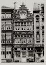 Gent: Vrijdagmarkt, trapgevelhuis, Café Touring nr.17, 1962