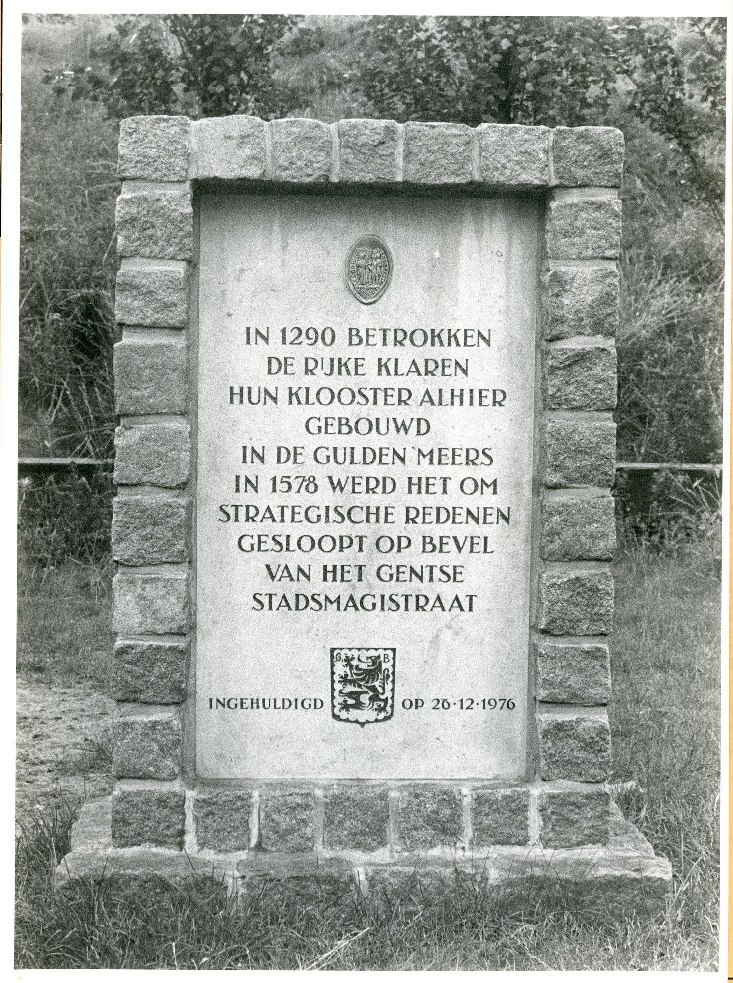 Gentbrugge: Bassijnstraat: Gedenksteen, 1979