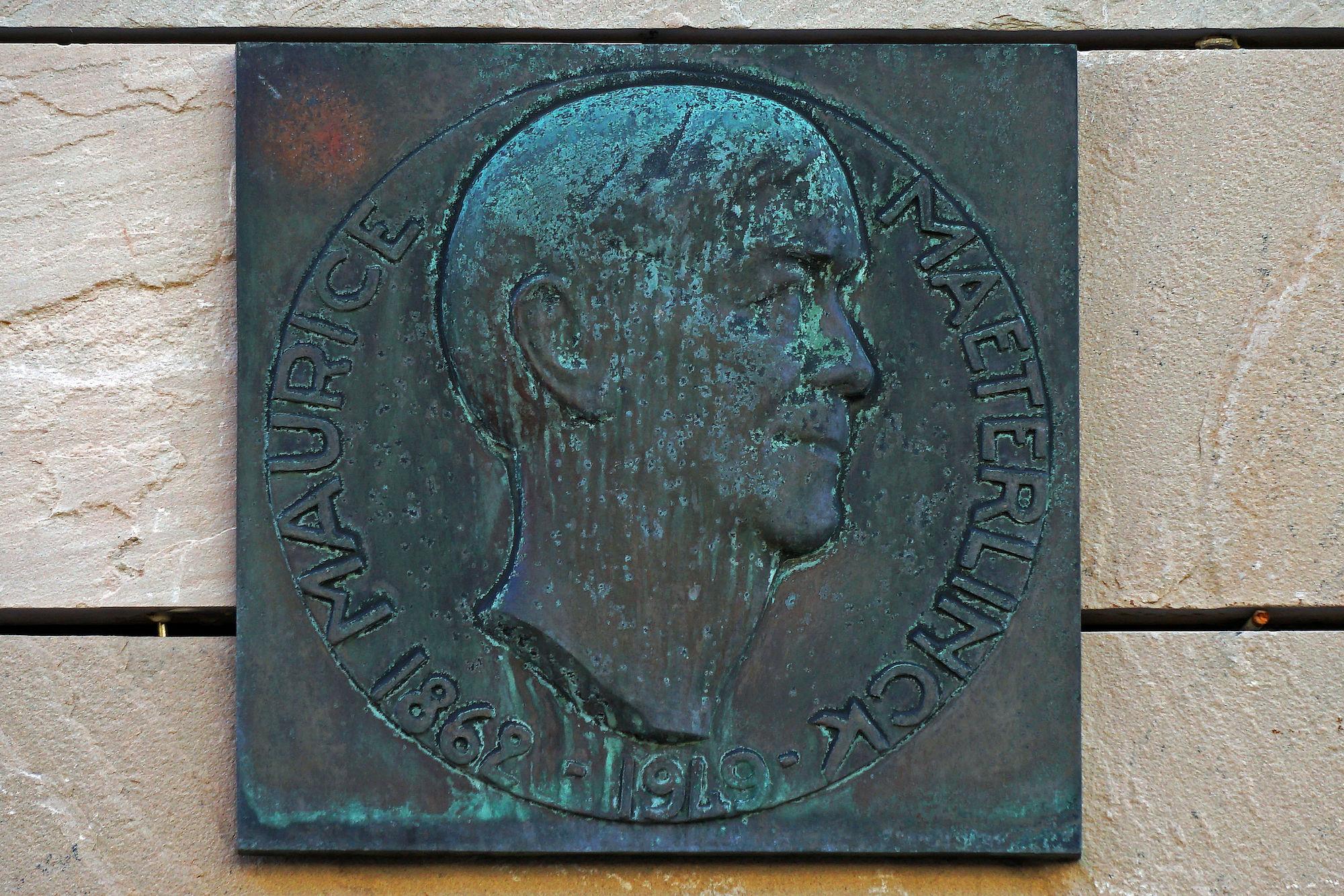 Gedenkplaat - Maurice Maeterlinck
