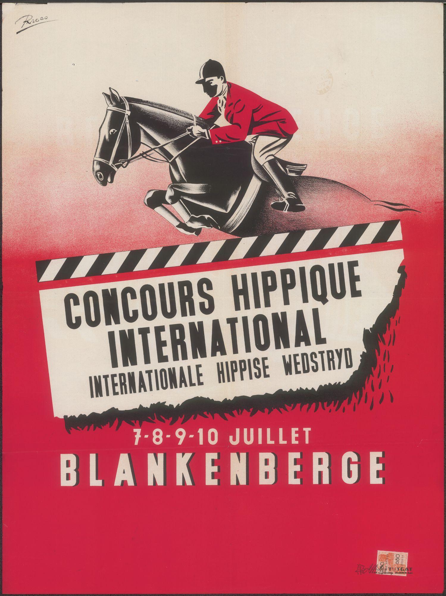 Concours Hippique International | Internationale Hippise Wedstrijd, Blankenberg, 7 - 8 -9 - 10 juillet 1950