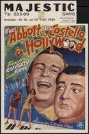 Bud Abbott & Lou Costello à Hollywood, Majestic, Gent, 16 - 22 april 1948