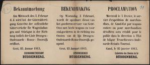 Bekanntmachung |Bekendmaking | Proclamation.