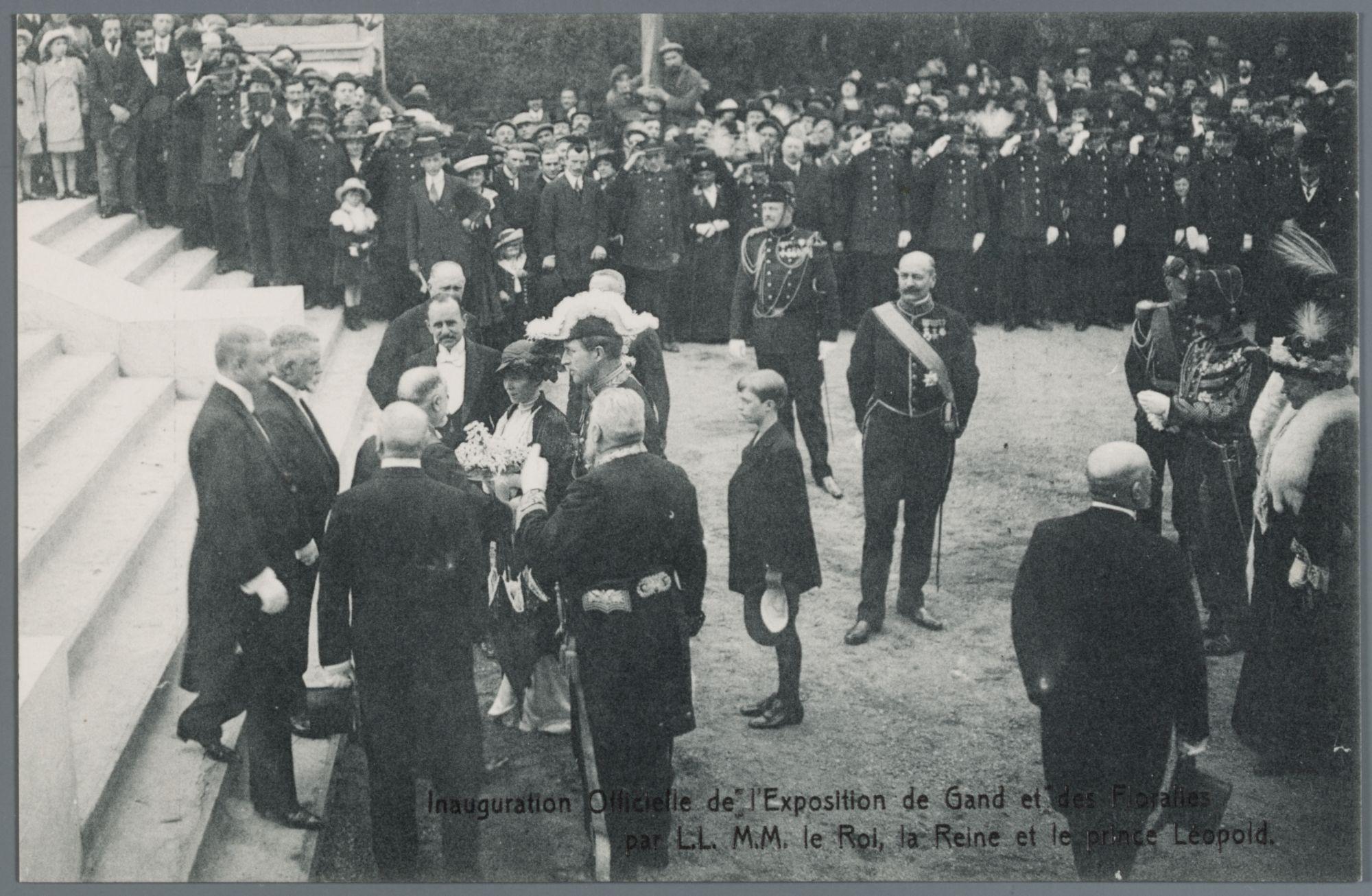 Gent: Wereldtentoonstelling 1913: opening Wereldtentoonstelling en Floraliën, 26 april 1913