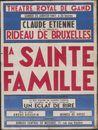 La sainte famille, Théâtre Royal De Gand (Opera), Gent, 25 januari 1947