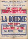 La Bohême, Opera en 4 actes, Vina Bovy, Musique de Puccini, Opera Royal de Gand (opera), Gent, 1947