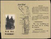Gent: Vrijdagmarkt nr. 40 en 41: affiche van openbare verkoop, 1931