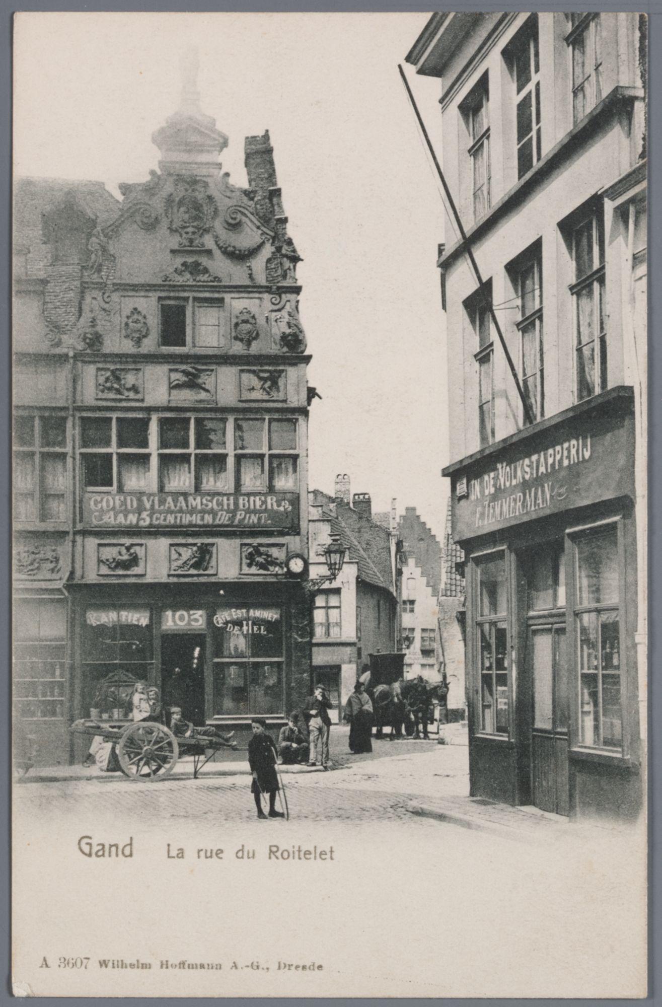Gent: Kraanlei, hoek Rodekoningstraat en Zuivelbrugstraat: huis van Jan Palfijn