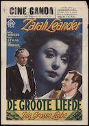 Die grosse Liebe | De groote liefde, Ciné Ganda, Gent, 18 - 24 juni 1943