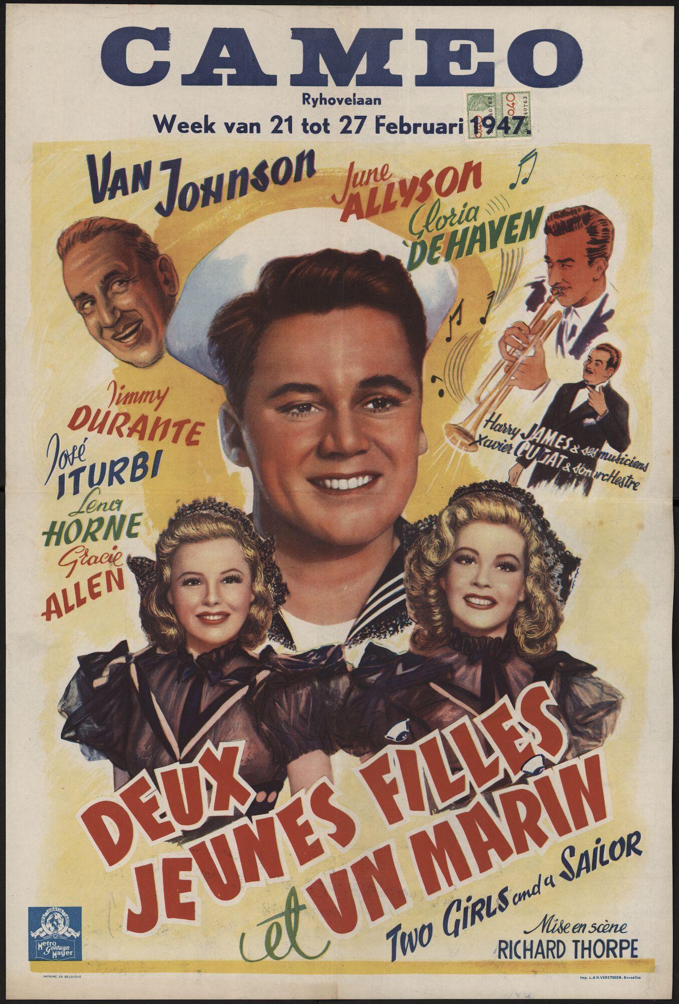 Two Girls and a Sailor | Deux jeunes filles et un marin, Cameo, Gent, 21 - 27 februari 1947