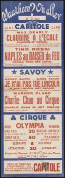 Waarheen? Où aller? Filmvertoningen in Capitole, Savoy, Cirque, Gent, 25 - 31 maart 1938