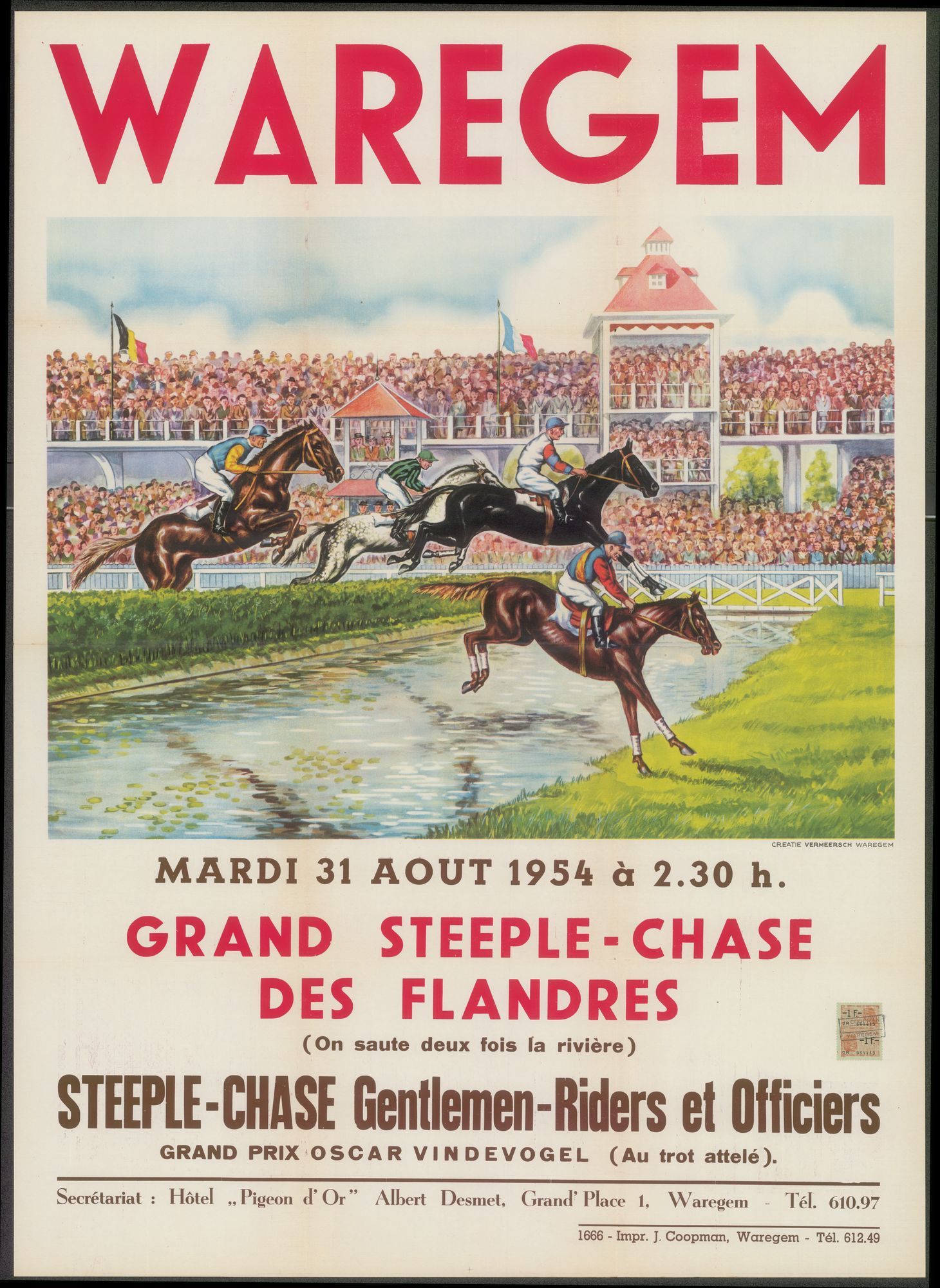Grand Steeple-Chase des Flandres, Steeple-Chase Gentlemen-Riders et Officiers, mardi 31 Aout 1954