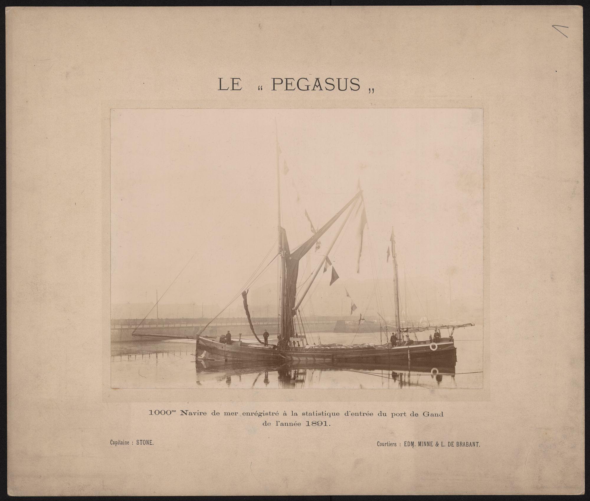 Gent: Haven. 1000 ste schip in de haven