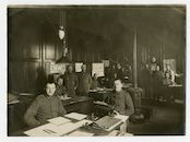 Gent: Koophandelsplein: Justitiepaleis: kantoor van de Munitionsverwaltung (munitiedienst) van de Etappen-Inspektion (etappe-inspectie), 1915-1916