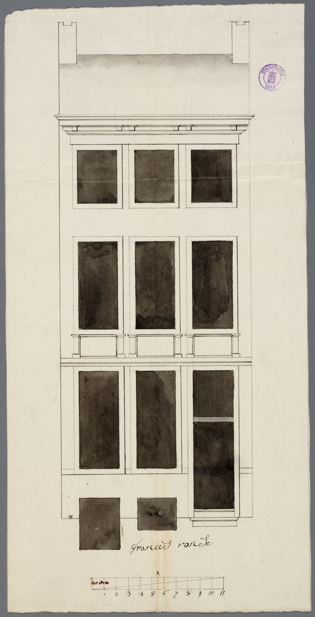 Gent: Zandberg, 1793: opstand gevel