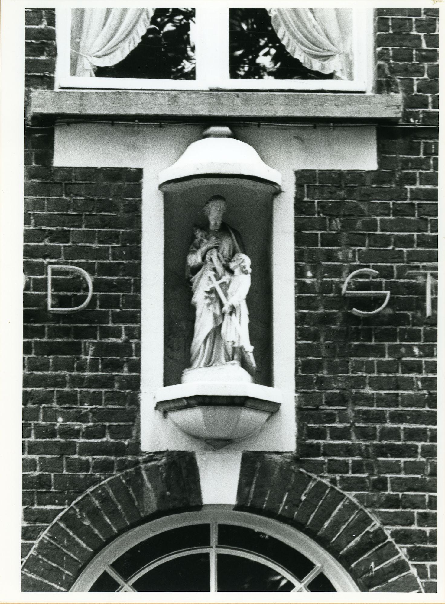 Wondelgem: Kerkdries 19: Gevelbeeld, 1980