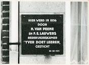 Mariakerke: Brugsevaart 82: Gedenkplaat, 1979