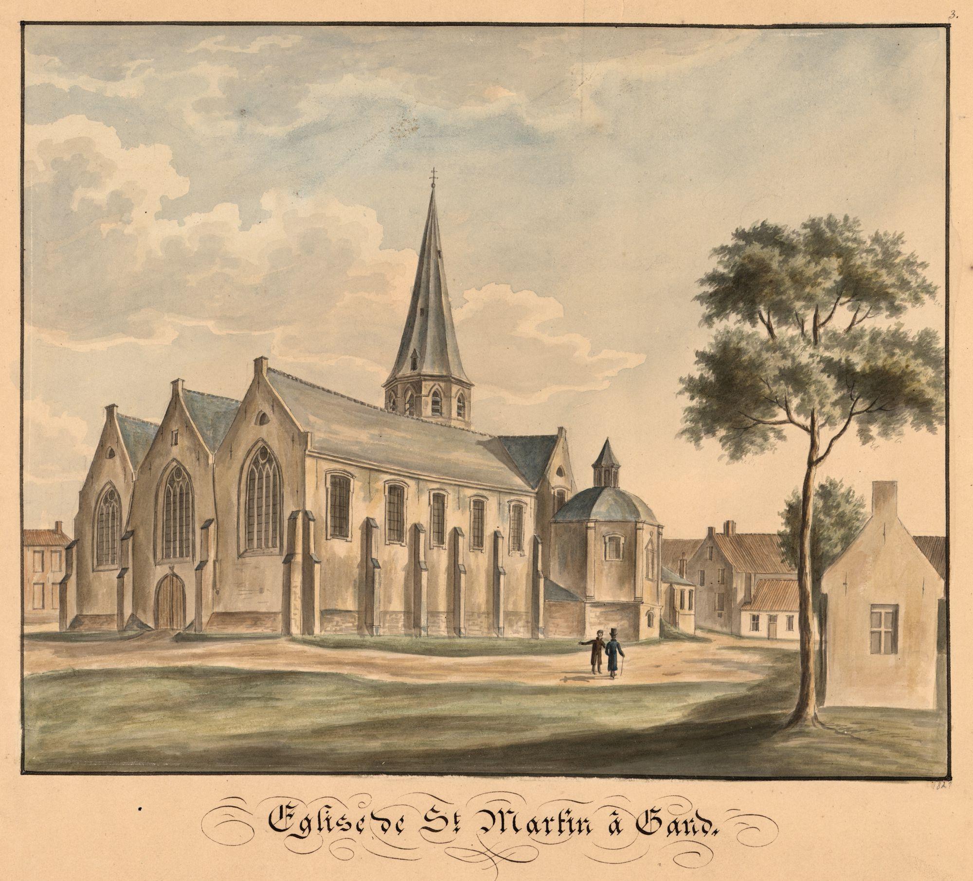 Gent: Sint-Martinuskerk van Ekkergem, west- en zuidkant