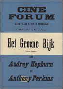 Het groene rijk, Cine Forum, Gent, 5 - 9 februari 1960