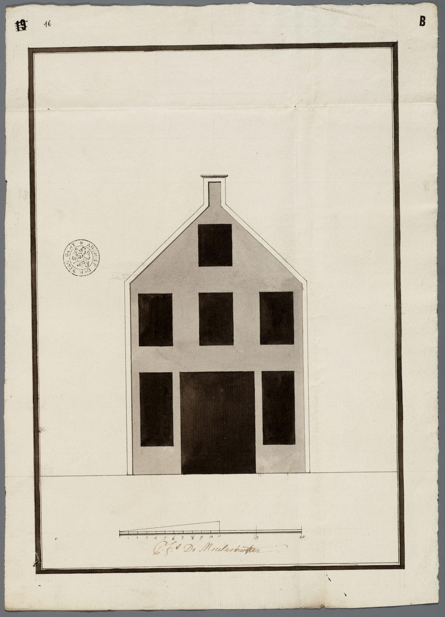 Gent: Sint-Katelijnestraat, 1787: opstand gevel