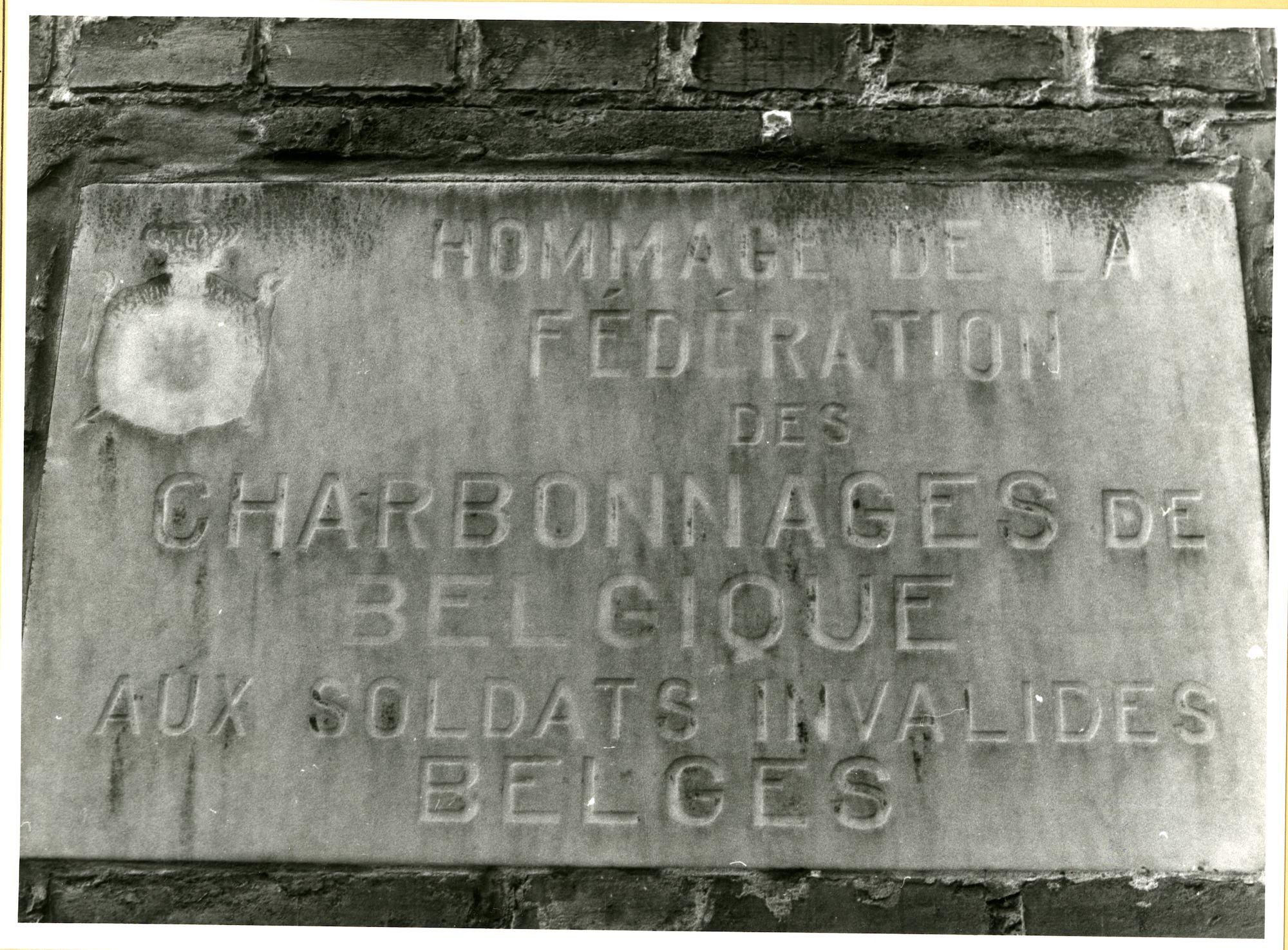 Gent: Fuchsiastraat 37: gedenksteen: Wereldoorlog I, 1979