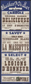 Waarheen? Où aller? Filmvertoningen in Capitole, Savoy, Select, Gent, 20 - 26 mei