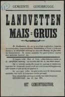 Gemeente Gendbrugge, Landvetten Maïs - Gruis.