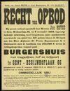 Recht van opbod: openbare verkoop van een burgershuis met magazijnen, hof en inrijpoort te Gent - Begijnhoflaan, nr. 66, Gent, 1959