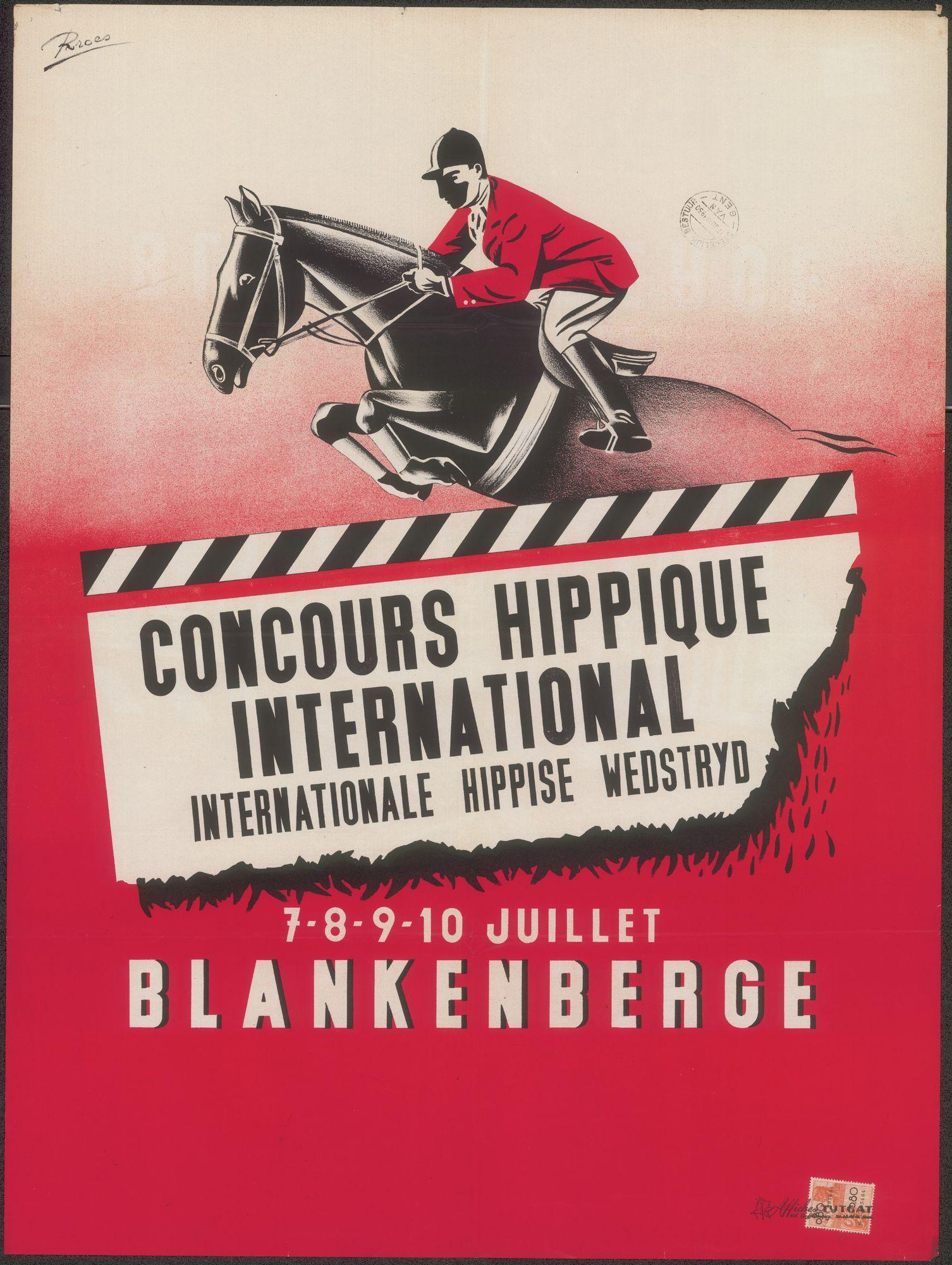 Concours Hippique International | Internationale Hippise Wedstrijd, Blankenberge, 7 - 8 - 9 - 10 juillet 1950