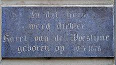 Gedenkplaat - Karel van de Woestijne