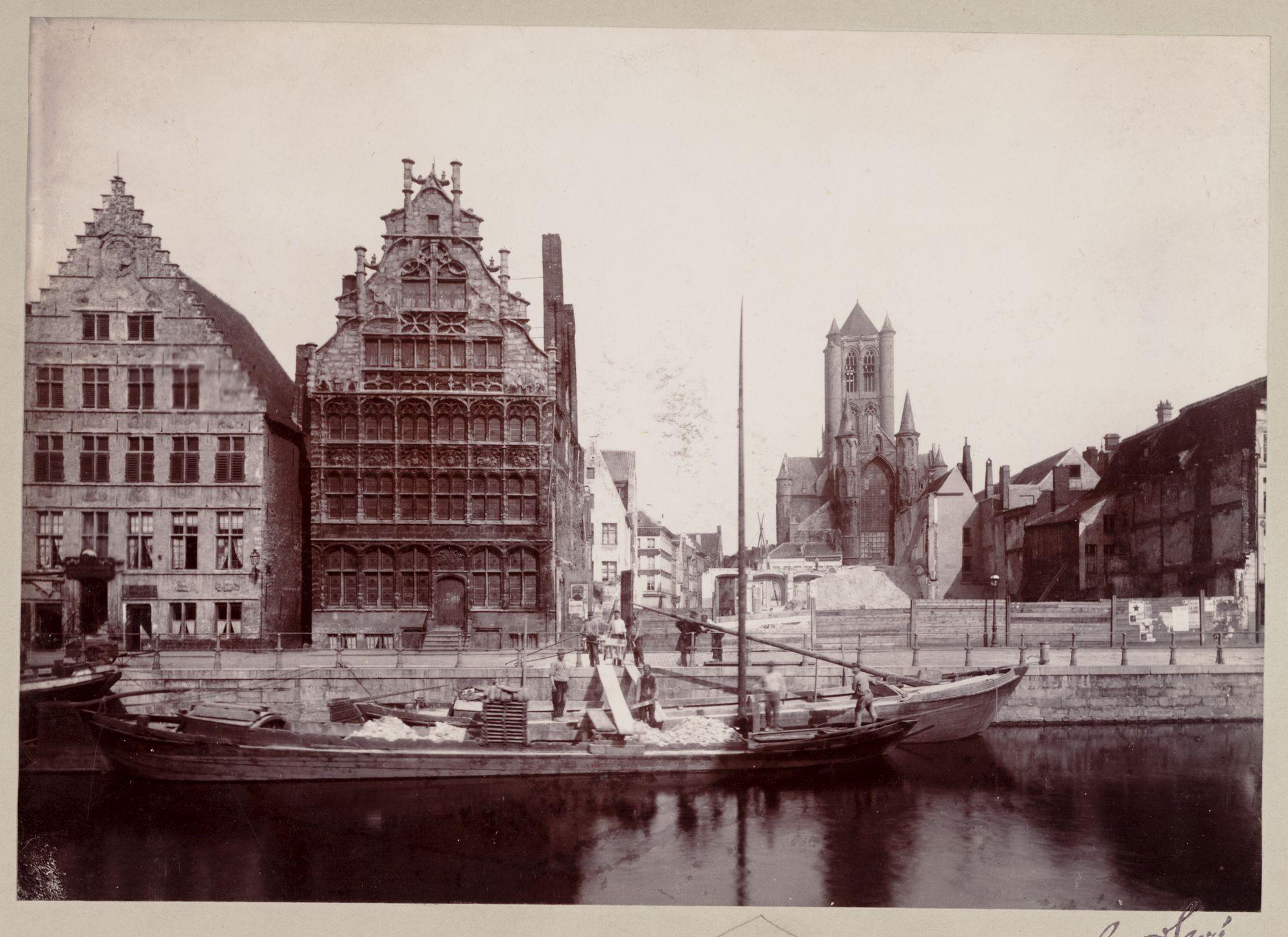 Gent: Afbraak van het Pakhuis, Graslei