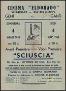 Sciuscia, Eldorado, Gent, 4 maart 1948