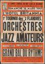 Concert de jazz, Tournoi des 2 Flandres pour orchestres de jazz amateurs, Grand bal du rythme, Hotel Britannia, Gent, 16 maart 1947