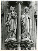 Gent: Botermarkt: stadhuis: nisbeelden: Boudewijn VII Hapkin en Karel de Goede