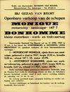 Openbare verkoop van de schepen Monique, motorschip - zandzuiger - 147 T, Bonhomme kleine motorboot - werk - en trekvaartuig, Antwerpen, 15 april 1959
