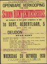 Openbare verkoop van een schoon renteniershuis met koetspoort en twee grote werkplaatsen en koer te Gent, Albertlaan, nr. 5, Gent, 26 oktober 1938