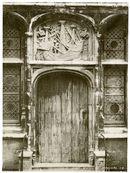 Gent: Graslei, Huis der Vrije Schippers- siersteen met karveel boven de deur
