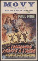 Commandos Strike at Dawn | Le commando frappe à l'aube | Commandos slagen bij dageraad, Movy, Gent, 4 - 10 juli 1947