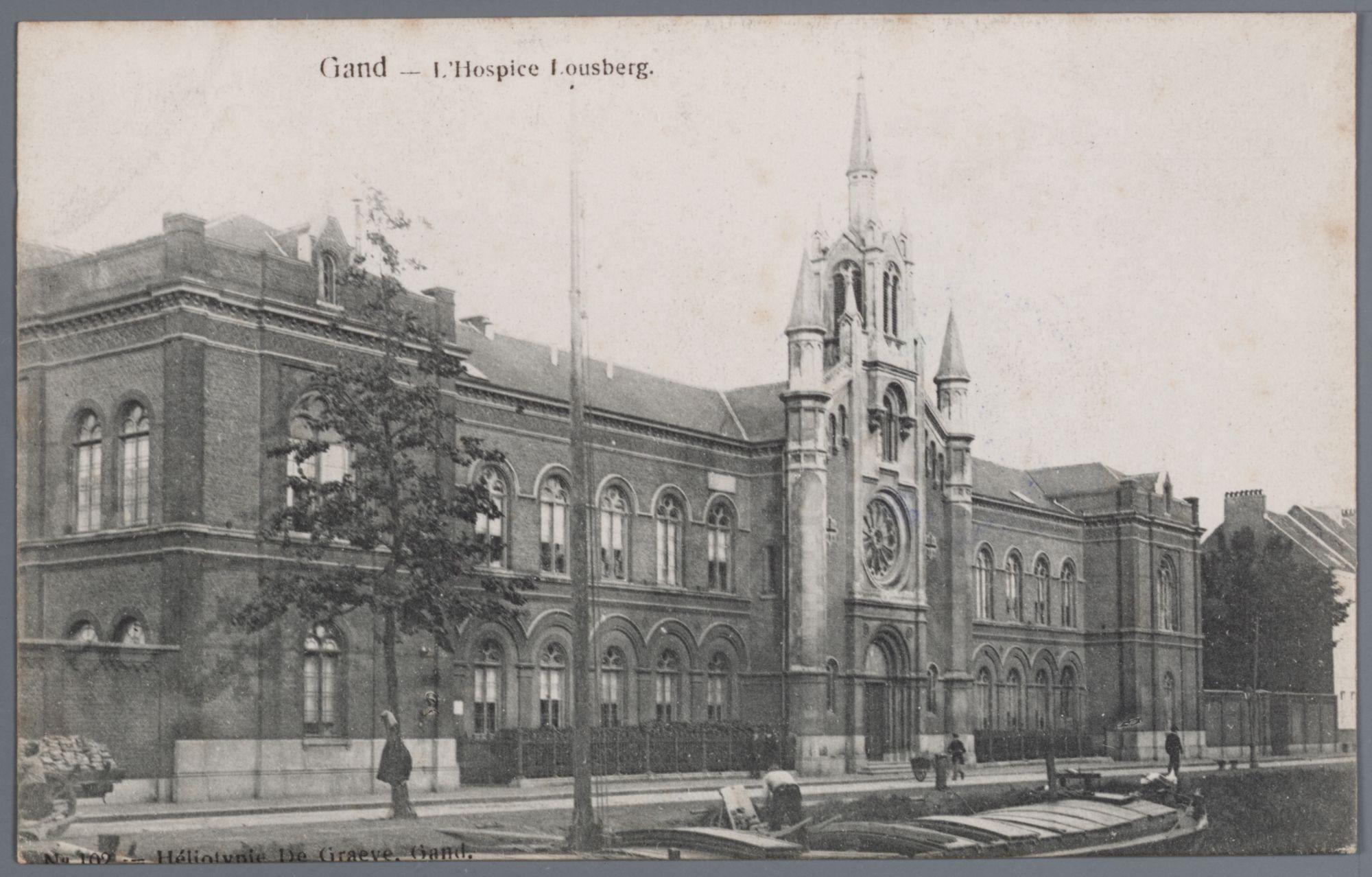 Gent: Ferdinand Lousbergskaai: bejaardentehuis