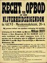 Recht van opbod op een nijverheidseigendom te Gent, Meulestedekaai, nr.20-A