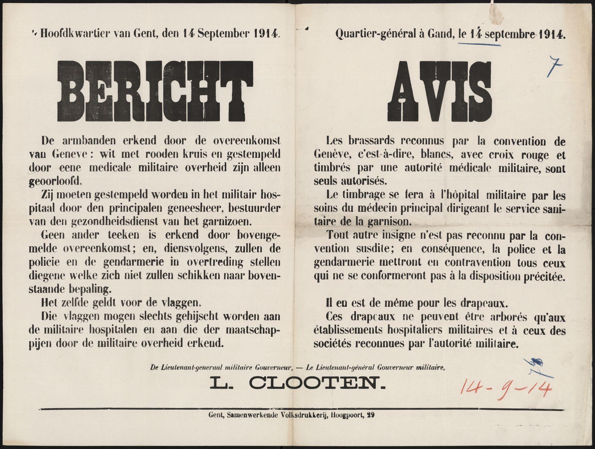 Bericht | Avis.