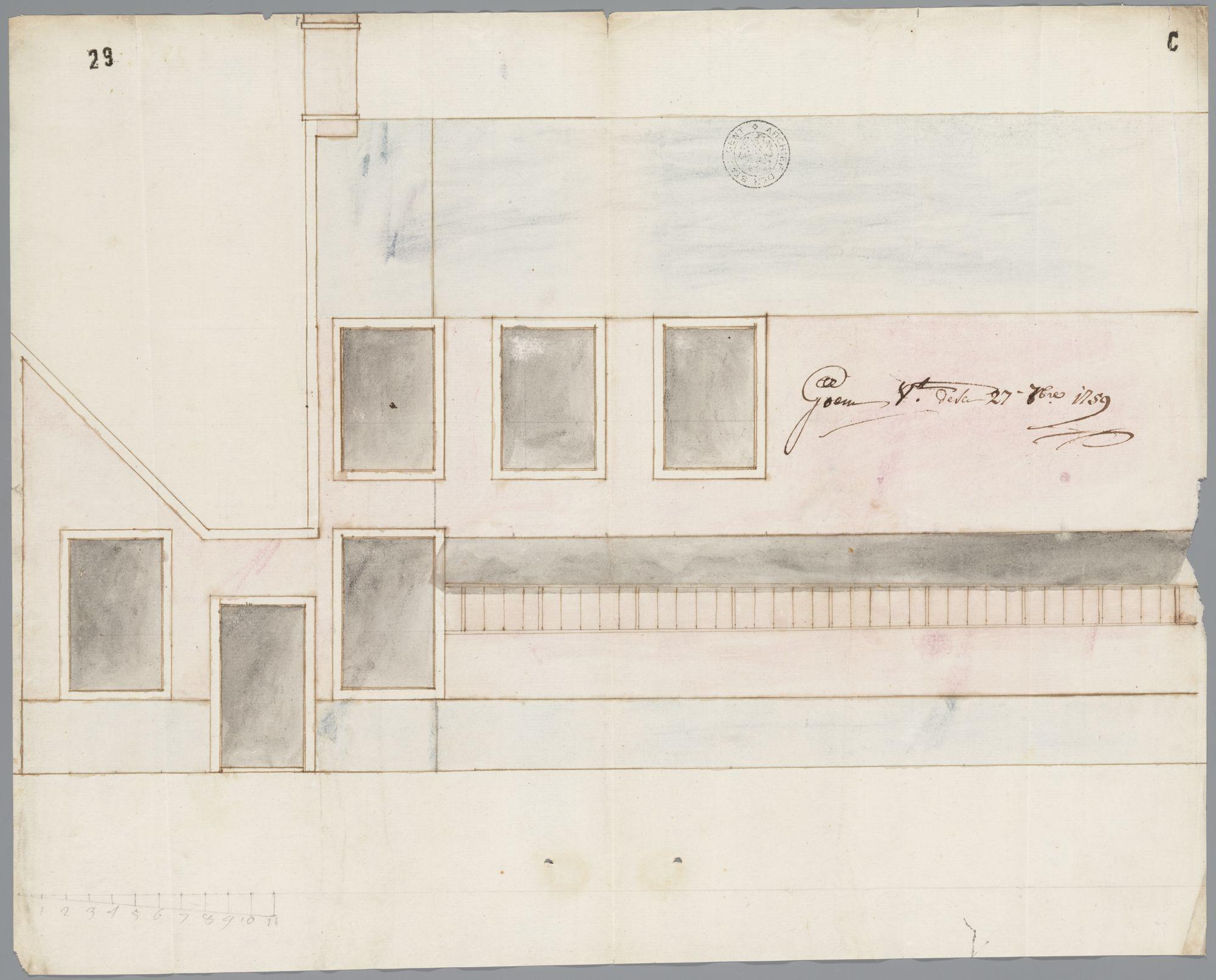 Gent: Kouter, 1759: opstand gevel