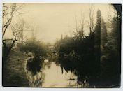Gent: Citadelpark, parkvijver met zwaan, 1915-1916