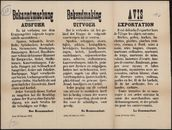 Bekanntmachung, Ausfuhr | Bekendmaking, Uitvoer | Avis, Exportation.