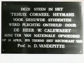 Gent: Isabellakaai: Gedenkplaat, 1979