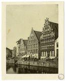 Gent: Graslei met Korenstapelhuis, Tolhuisje, Korenmetershuis en Huis der Vrije Schippers.