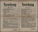 Verordnung für Schieffe, die ins Grenzgebiet fahren | Verordening voor schepen welke in het grensgebied varen.